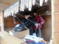 Installation du chalet