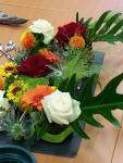 Composition florale en cours