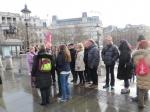Le groupe AAAB à Trafalgar Square