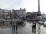 Trafalgar square et colonne NELSON