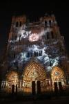 Illumination ND Façade occidentale avec nuages (Amiens)