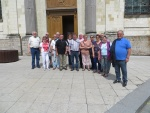 Adhérents devant l\'Eglise St Wasnon